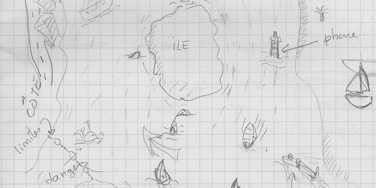 Un premier dessin du jeu